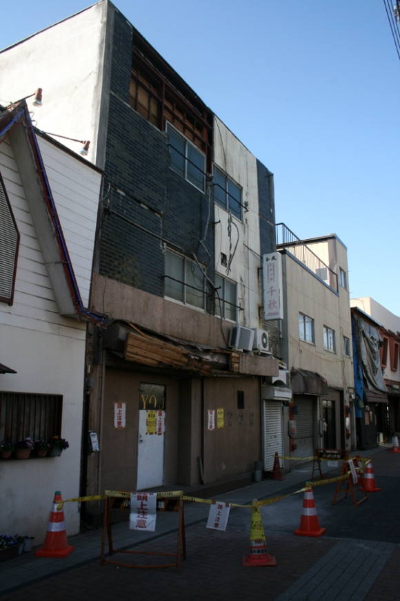 Most of the buildings that had damage were already abandoned.