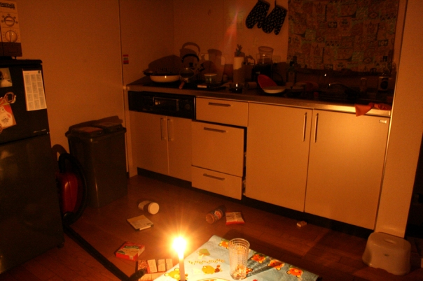 Not exactly a warzone, but it is how the apartment looked after.