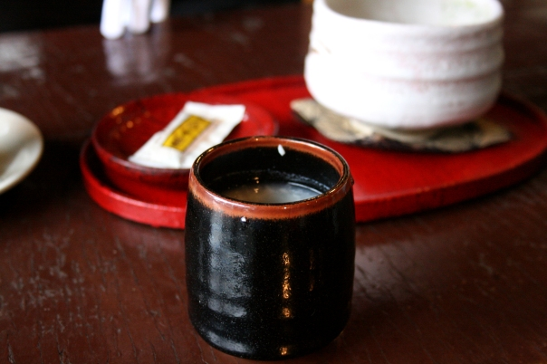 Amazake from a cafe at Ryuzu