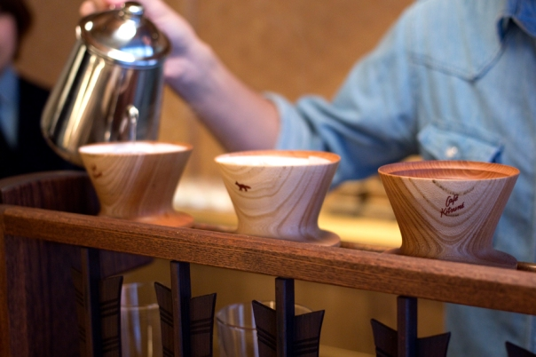 They use a pour over similar to a Beehouse it seems